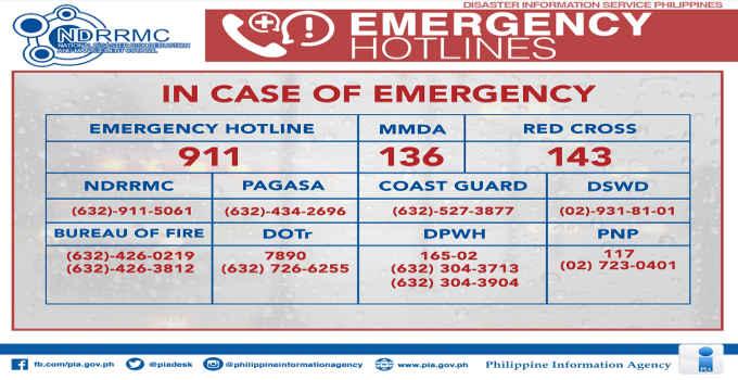 Philippine Emergency Numbers
