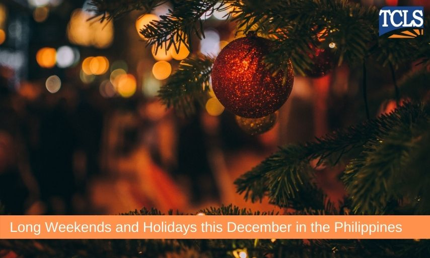 Long Weekends and Holidays this December in the Philippines
